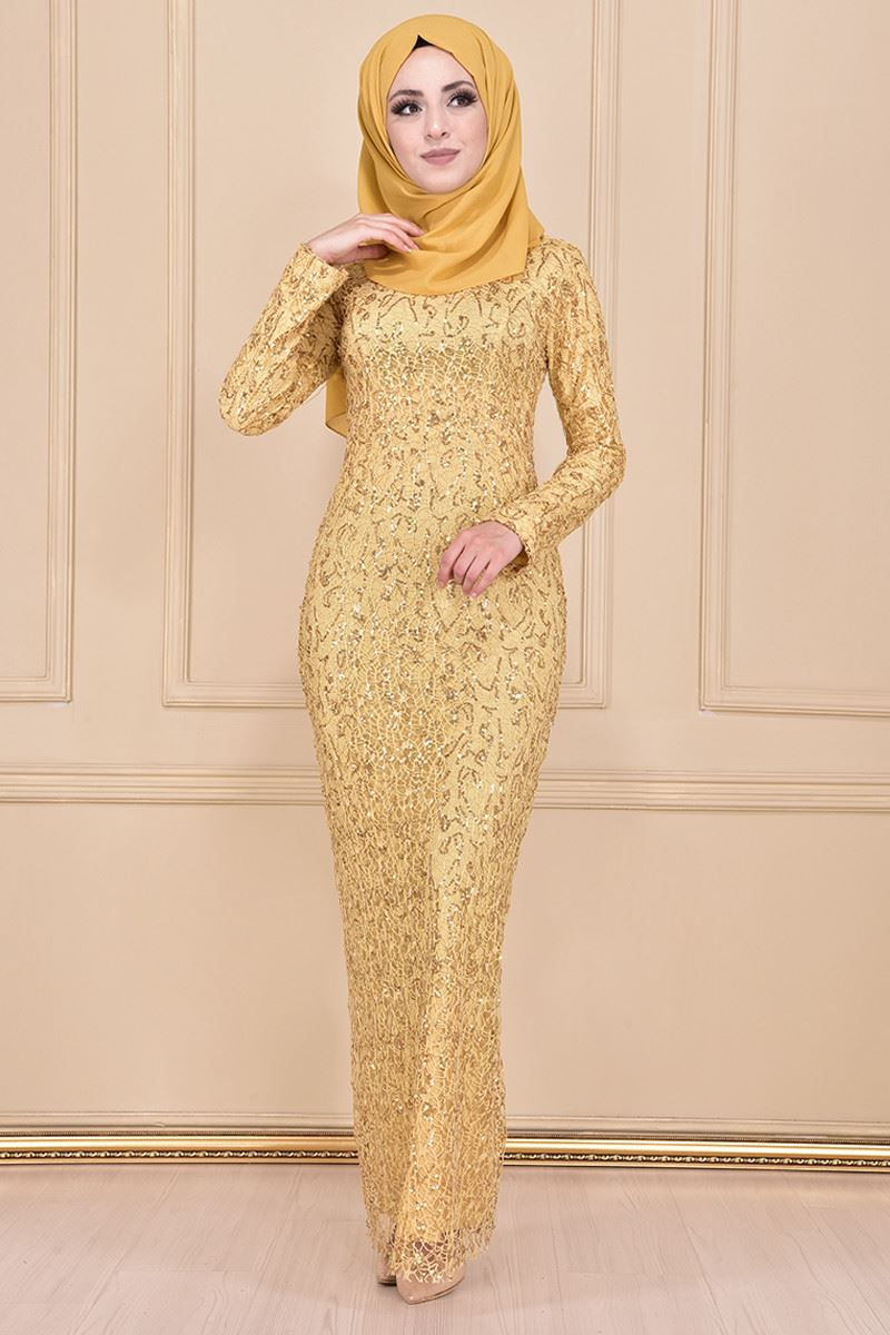 Pul Payet Elbise Gold CHE20359